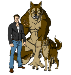 Jake Red Wolf: The full moon warrior by IchiroHyuuga