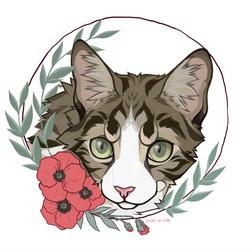 YCH : flowered portrait by paleasmilk