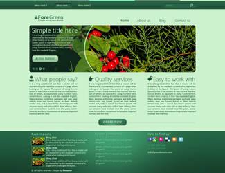 ForeGreen Wordpress Theme by katsarov