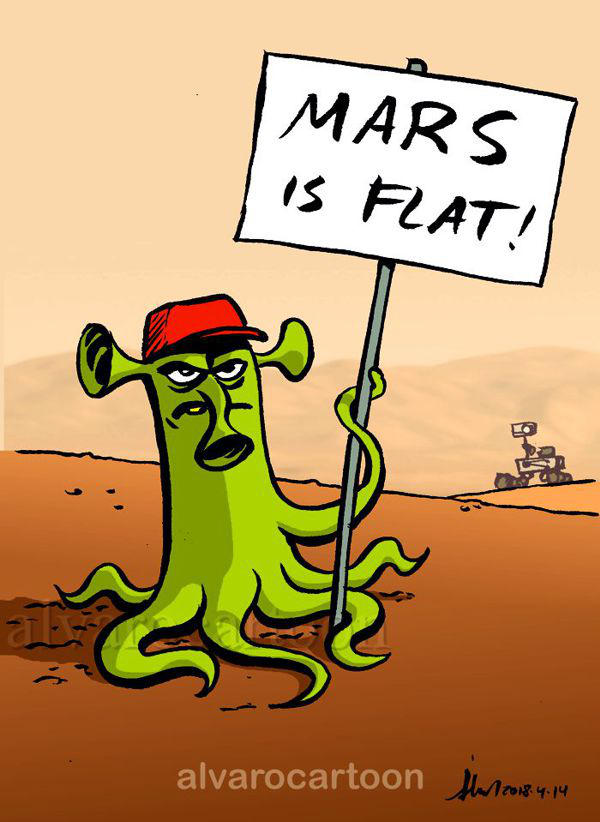Mars is Flat! by Alvarossantos