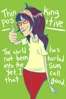 Thinking Positive by rosalarian