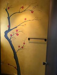 Cherry Tree Mural by SawStudios