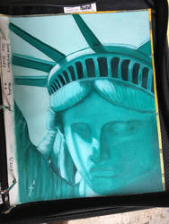 Statue of Liberty Oil Study by SawStudios