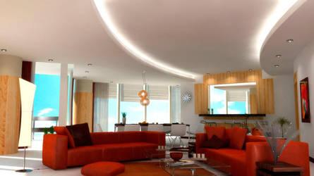 penthouse livingroom v2 by umutavci