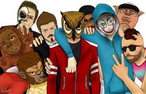 Vanoss and his crew by Kiammyfy