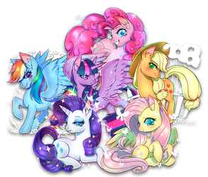 The Mane 6 by Renciel