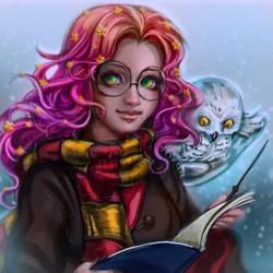 Snowy owl by TrydeSilence