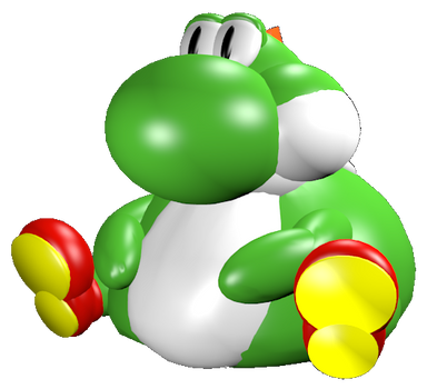 Fat Yoshi Custom Model By Phantomballoonboy64 On Deviantart