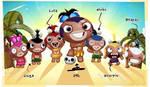 My pocket god facebook tribe by kirbysgirlfriend