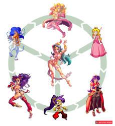 Peach Felicia Shantae Triple Fusion by supersatanson