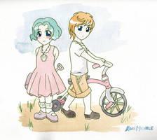 Haru + Michi's chance Meeting by KoriMichele
