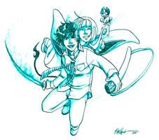 Rin + Shiemi, Exorcists by KoriMichele