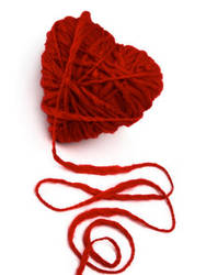 heart yarn by Almasa-stock