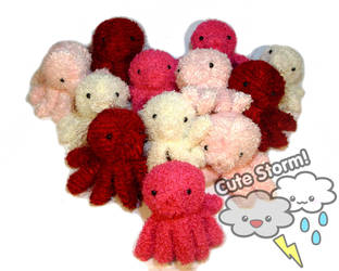 Octopus plush Valentine by The-Cute-Storm