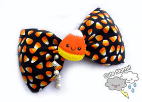 Candy Corn bow by The-Cute-Storm