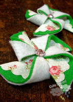 Pinwheel brooches by The-Cute-Storm