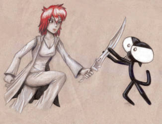 Tamara vs. Mick by Captain-Pyro
