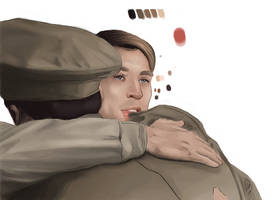 Color Practice: Steve and Bucky WIP by Die1991