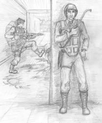 Black Mesa Encounter by n-dorfine