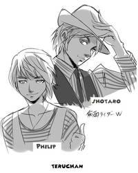 Shotaro and Philip by Teruchan