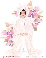 weddingdress of Japan by Teruchan