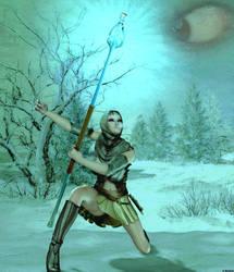 Winterfight by Maikaefersart