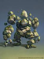 Stone Golem by Eedenartwork