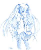 Blue Hatsune Miku by risu-chii