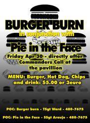 Flyer - Pie face-burger burn by DragonKinfolk