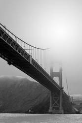 The Golden gate Bridge from below by DragonKinfolk