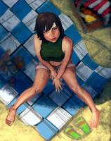 Yuffie Kisaragi. Final Fantasy 7. WIP by Feael