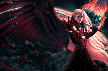 Sephiroth. One winged angel. by Feael