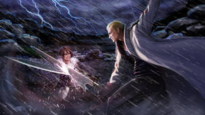 Squall vs Seifer by Feael