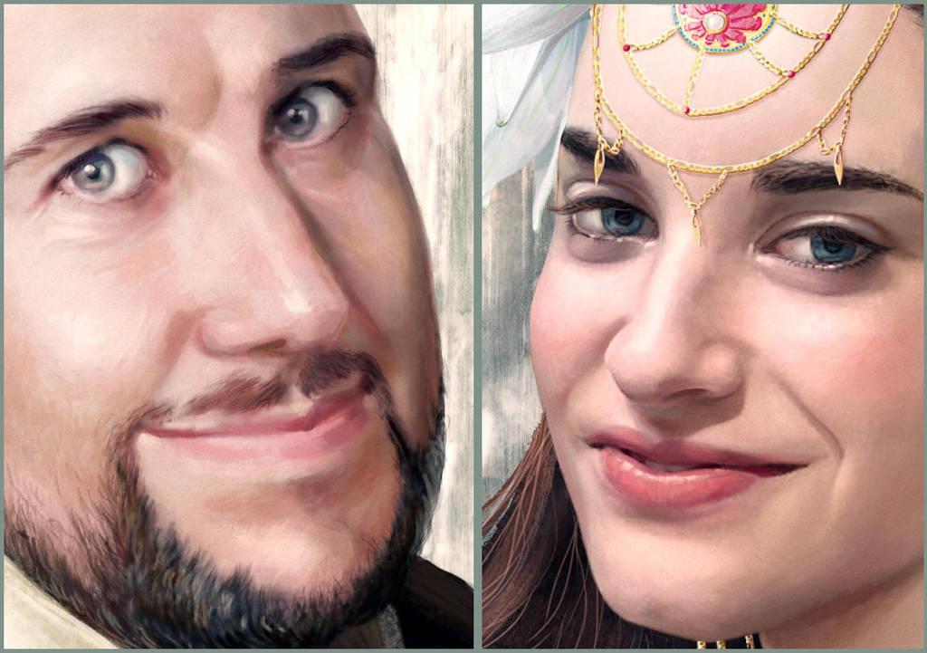 Portrait Enrique and Beatriz. Details#2 by Feael