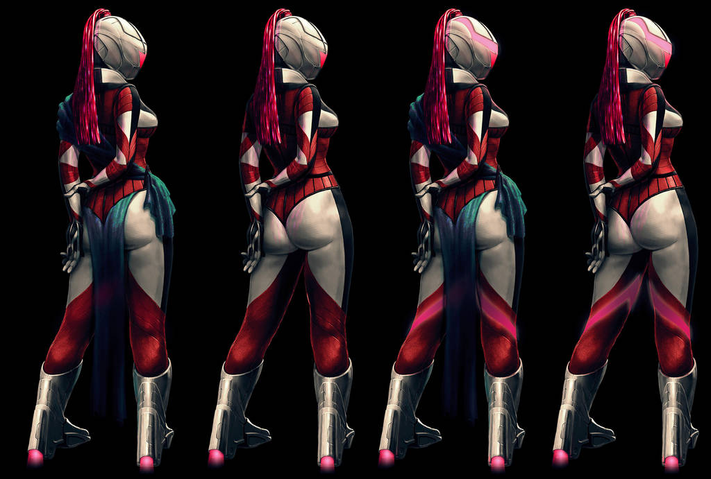Bodysuit commission (female version) by Feael