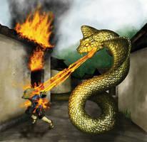 Fire Serpent by hwango