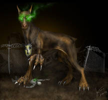 Giant Radioactive Mutant Dog by hwango