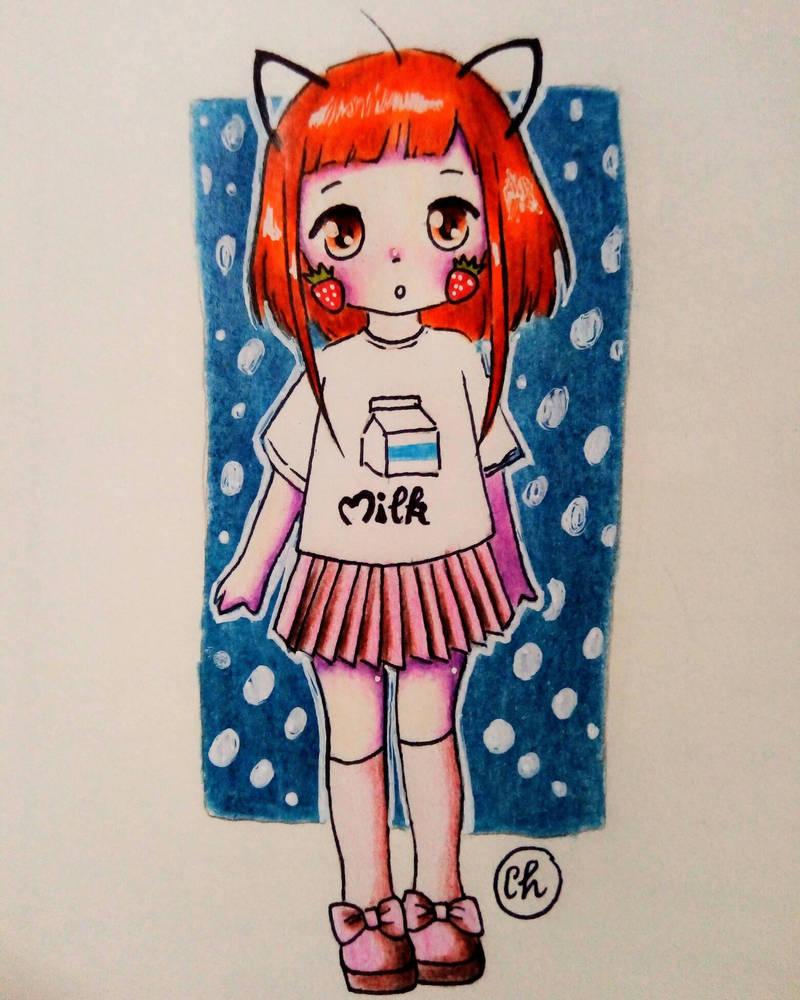 strawberry milk  by cherry1812