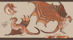 [Commission] Ref sheet for Dragonpunk13 by FrossetHjerte