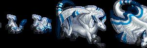 Blue-Streaked Dragon by LightConcorde
