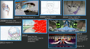 Progress Art Timeline (Over the years) :D by Creative2Bit