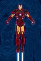 IRONMAN Blueprint Poster by Creative2Bit