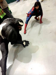 Venom vs. Spidey by lapurgs