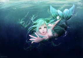 Mermaid Bubble by wzaqua