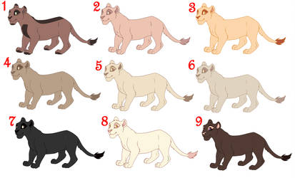 5 POINT SIMPLE LIONESS ADOPTS [ 8/9 OPEN ] by cutieselfies