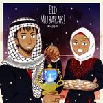 Eid Mubarak 1439 H by Chamomilliya