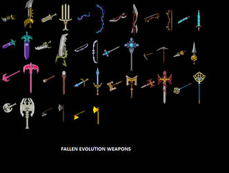 Fallen Evolution Weapons by Fallen-Evolution