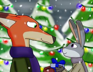 A Zootopian Christmas by weasel-girl