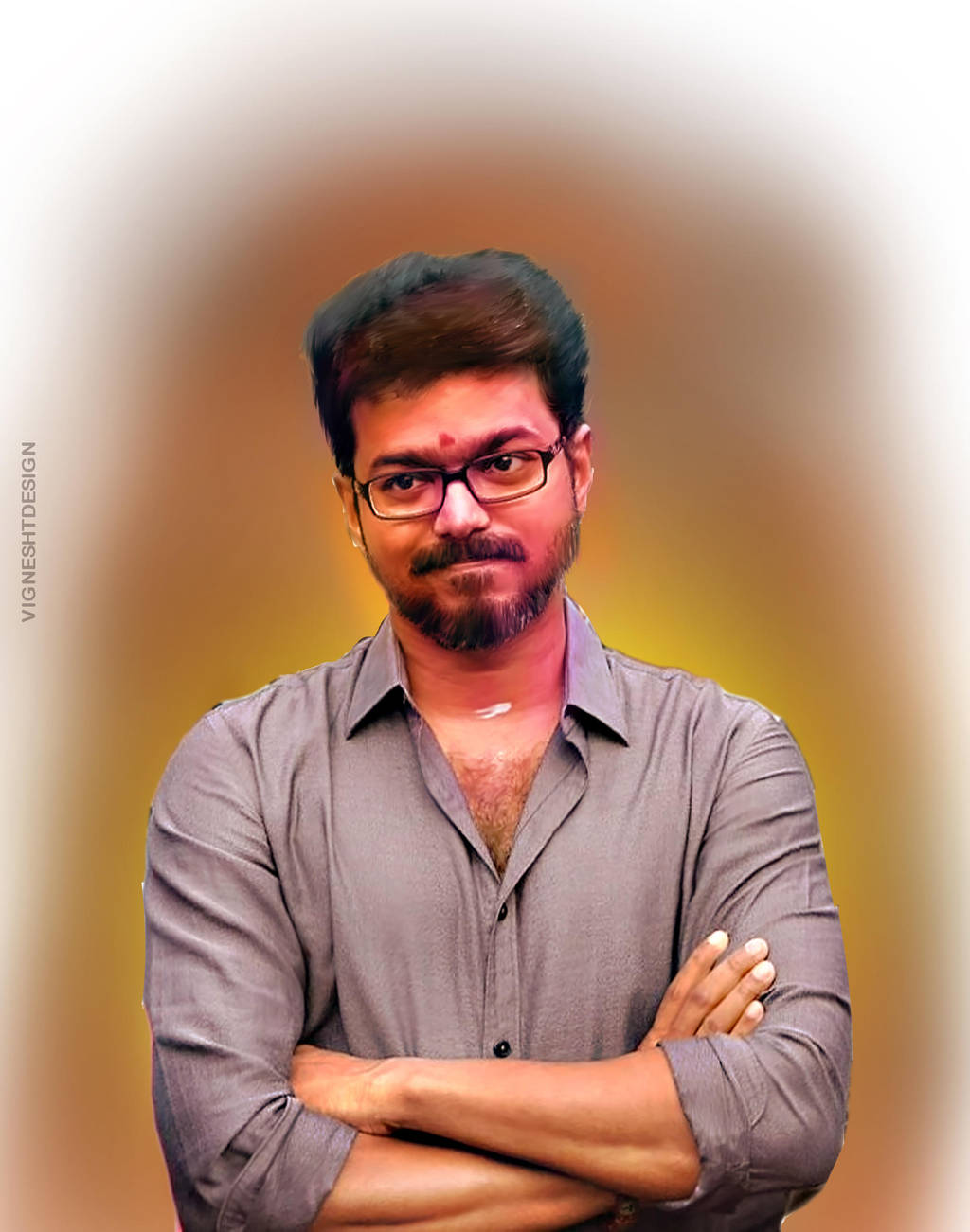 Actor Vijay Digital Painting Uhd By Vigneshtdesign On Deviantart