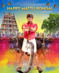 Mattu pongal Thalapathy vijay DP UHD by VigneshTDesign